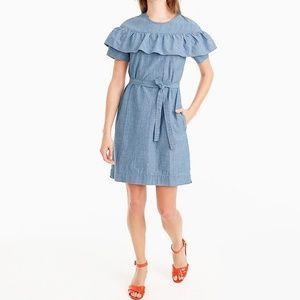 J Crew Edie Ruffle Dress